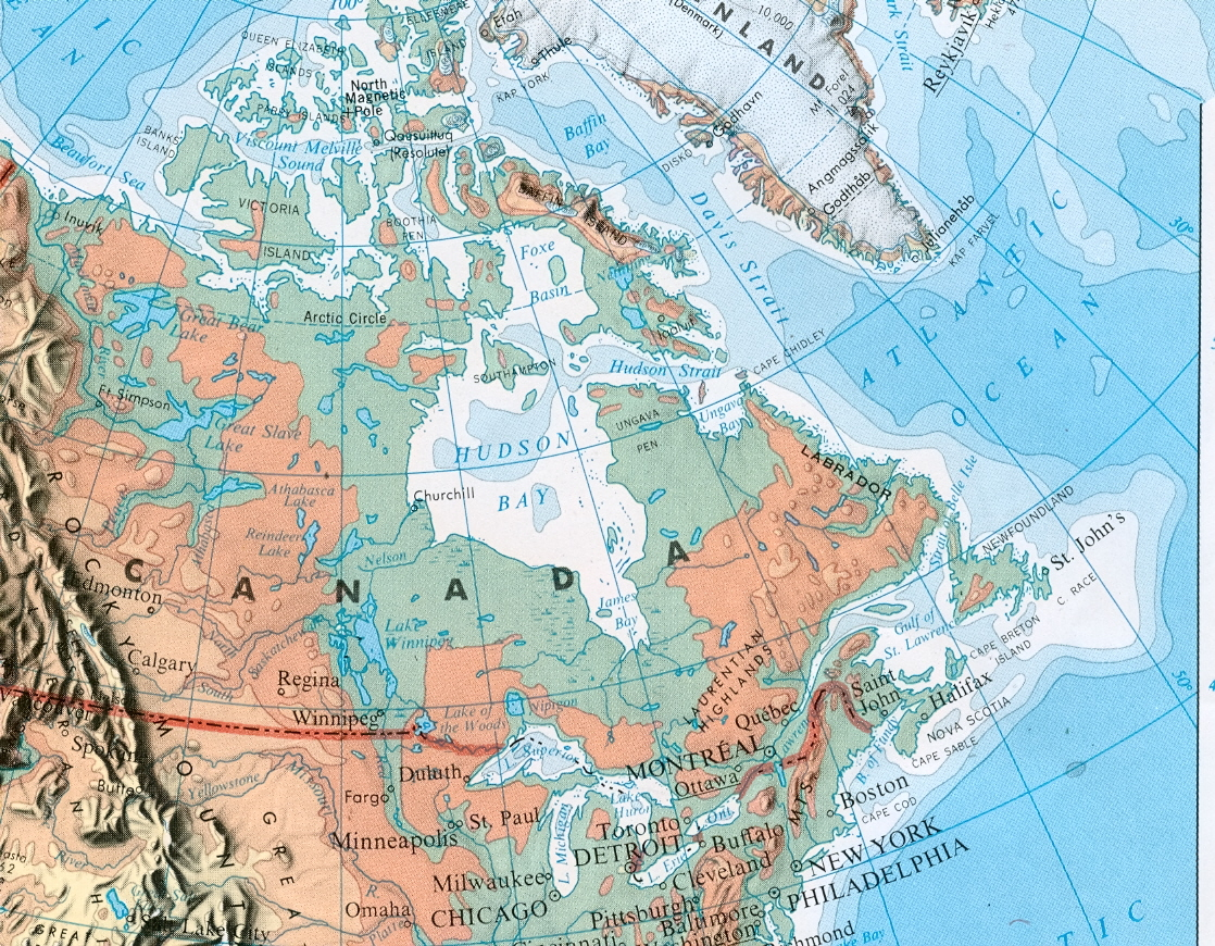 Ice Refusing To Melt In East Hudson Bay And Frobisher Bay Ice - Hudson bay on world map